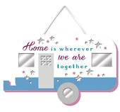 Home Is Wherever We Are Together Hanging Plaque With Ribbon