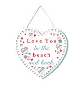 Love You To The Beach & Back Hanging Plaque With Ribbon