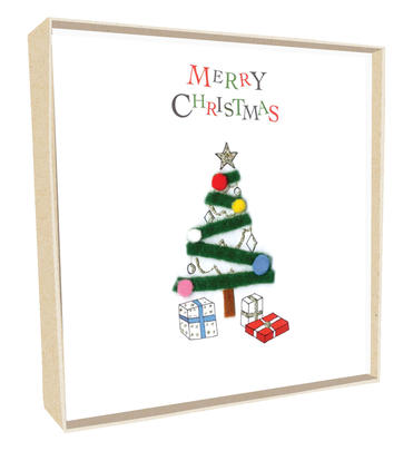 Box of 5 Tree Hand-Finished Christmas Cards