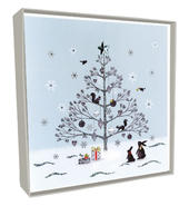 Box of 5 Tree & Animals Hand-Finished Christmas Cards