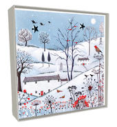 Box of 5 Village Hand-Finished Christmas Cards