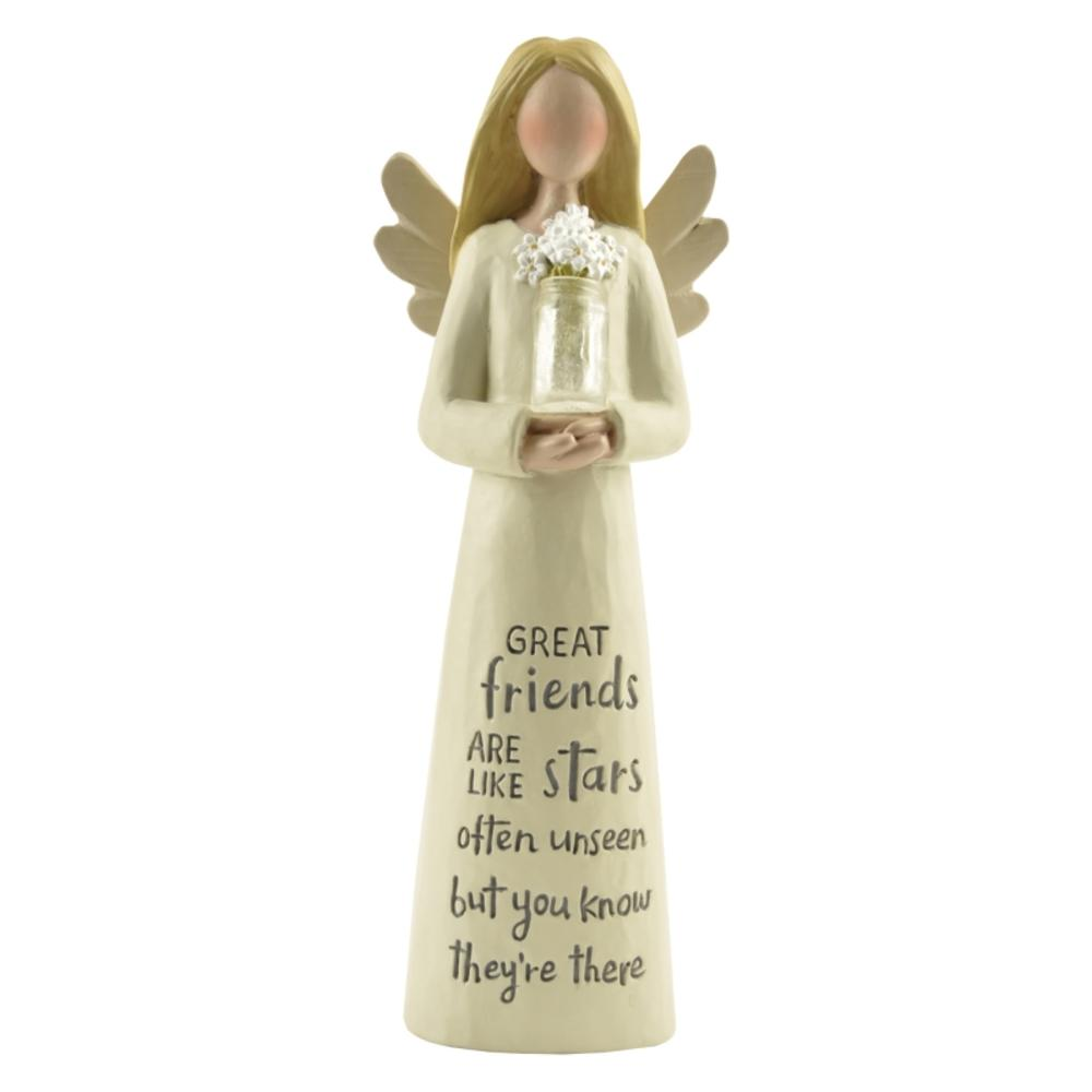 Angel Figurine Great Friends Are Like Stars Guardian Angel