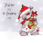 Scribble Bear Individual Just For You Christmas Card