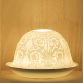 Nordic Lights Decorative Bone Porcelain Candle Shade