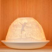 Nordic Lights Stencil Fairy Bone Porcelain Candle Shade