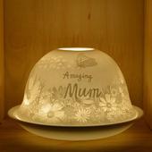 Nordic Lights Amazing Mum Bone Porcelain Candle Shade