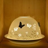 Nordic Lights 3D Butterflies Bone Porcelain Candle Shade