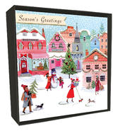 Box of 6 Season's Greetings Luxury Hand-Finished Christmas Cards