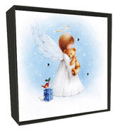 Box of 6 Angel & Bear Luxury Hand-Finished Christmas Cards
