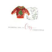 Individual Festive Xmas Jumper Christmas Card Hand-Finished