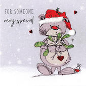 Scribble Bear For Somone Special Christmas Card