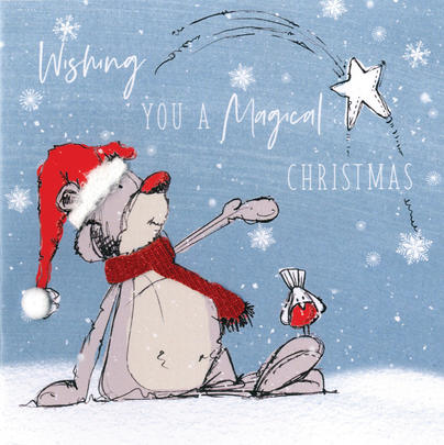 Scribble Bear Individual Magical Christmas Card