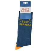 Blue Best Grandad Socks Size 8-12