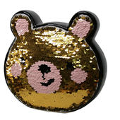 Sequin Bear Ceramic Money Box With Stopper