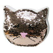 Sequin Cat Ceramic Money Box With Stopper