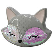 Sequin Fox Ceramic Money Box With Stopper