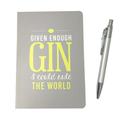 Given Enough Gin I Could Rule The World Notebook & Pen Gift Set