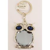 Diamante Sparkly Owl Keyring
