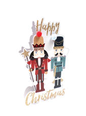 Nutcracker 3D Paper Dazzle Christmas Greeting Card