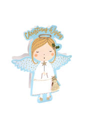 Angel 3D Paper Dazzle Christmas Greeting Card