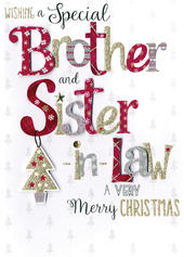 Brother & Sister-In-Law Embellished Hand-Finished Christmas Card