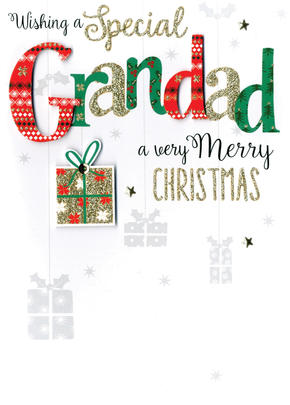 Grandad Embellished Hand-Finished Christmas Card