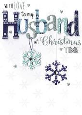 Husband Embellished Hand-Finished Christmas Card