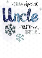 Uncle Embellished Hand-Finished Christmas Card