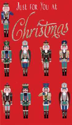 Nutcrackers In Rows Christmas Money Wallet Gift Card