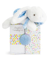 Doudou Blue Rabbit Super Soft Plush Toy In Solid Gift Box Ideal For New Baby