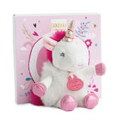 Doudou White Unicorn Super Soft Plush Toy In Solid Gift Box