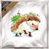 Pack of 8 Christmas Hedgehog Woodland Trust Fairdeal Charity Christmas Cards