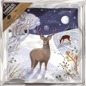 Pack of 8 Winter Reindeer Woodland Trust Fairdeal Charity Christmas Cards