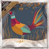 Pack of 8 Festive Pheasant Woodland Trust Fairdeal Charity Christmas Cards