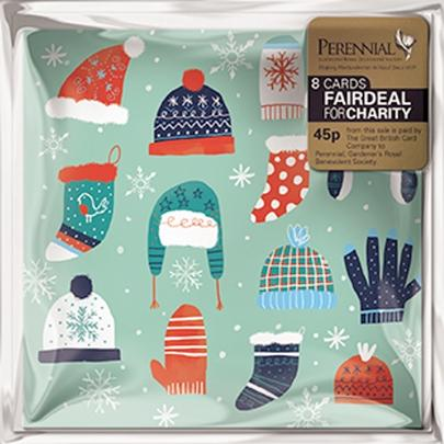 Pack of 8 Christmas Warmers Perennial Charity Christmas Cards