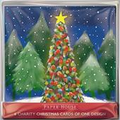 Pack of 6 Christmas Tree Charity Christmas Cards Supports Multiple Charities
