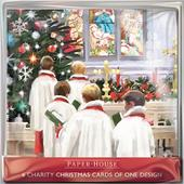 Pack of 6 Christmas Choir Charity Christmas Cards Supports Multiple Charities