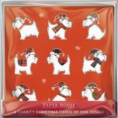 Pack of 6 Wrapped Up Westies Charity Christmas Cards Supports Multiple Charities