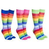 Sock Society Rainbow Socks 3 Pairs Patterned Socks