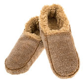 Snoozies! Mens Small Size 6-7 Two Tone Camel Slippers