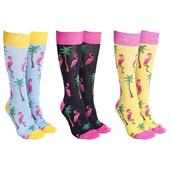 Sock Society Flamingo Socks 3 Pairs Patterned Socks