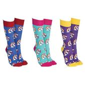 Sock Society Unicorn Socks 3 Pairs Patterned Socks