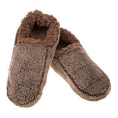 Snoozies! Mens Medium Size 8-9 Two Tone Chocolate Slippers