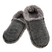 Snoozies! Mens Large Size 10-11 Two Tone Black Slippers