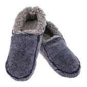 Snoozies! Mens Large Size 10-11 Two Tone Navy Slippers