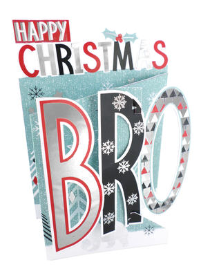 Happy Christmas Bro Brother 3D Christmas Card