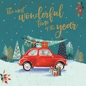 Pack of 6 Wonderful Time Charity Christmas Cards Supporting Multiple Charities
