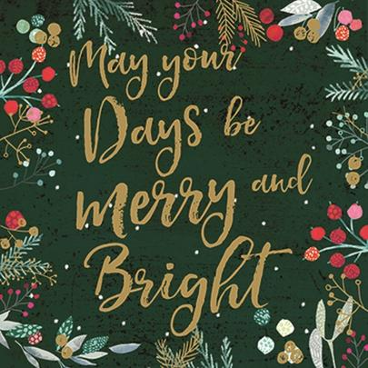 Pack of 6 May Your Days Be Charity Christmas Cards Supporting Multiple Charities