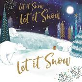 Pack of 6 Let It Snow Charity Christmas Cards Supporting Multiple Charities