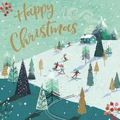 Pack of 6 Happy Christmas Charity Christmas Cards Supporting Multiple Charities